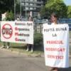 Protest fata de lobby-ul companiilor producatoare de Organisme Modificate Genetic